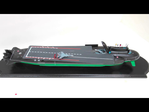 Russia Nuclear Aircraft Carrier Submarine Model Unveiled [1080p]