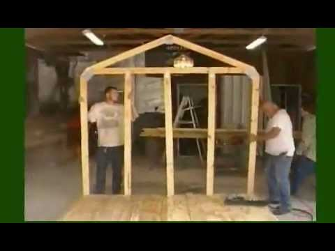 How To Build A Storage Shed Frame Youtube