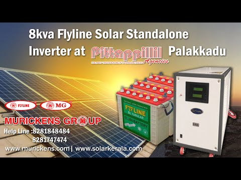8 kva Flyline solar standalone System At pittappillil  palakkad  By Murickens  Group