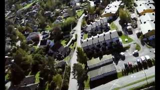 Hannestad Blokkene filmet fra drone