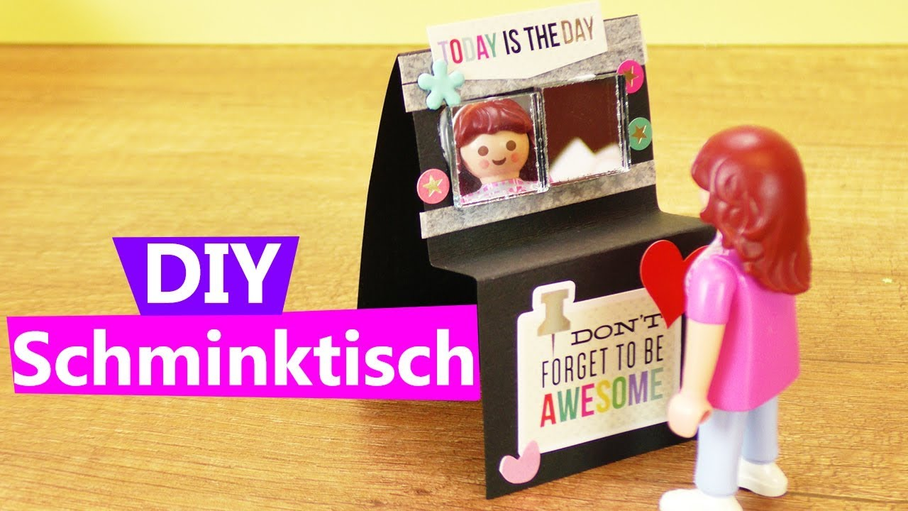 playmobil schminktisch basteln anleitung kosmetik tisch selber machen diy m bel ideen. Black Bedroom Furniture Sets. Home Design Ideas