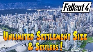 fallout 4 - increase settlement size via console command (pc)
