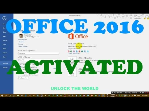 HOW TO ACTIVATE OFFICE 2016 without any software or product key (working 100%)