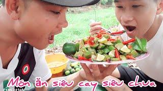 Thử thách ăn món siêu cay siêu chua _nhân vlog.
