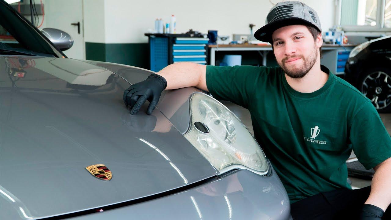 porsche 911 996 scheinwerfer ausbauen how to remove. Black Bedroom Furniture Sets. Home Design Ideas