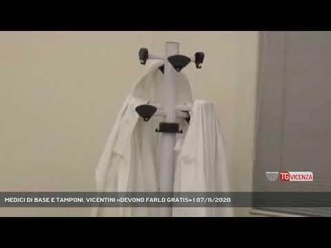 MEDICI DI BASE E TAMPONI, VICENTINI «DEVONO FARLO GRATIS» | 07/11/2020