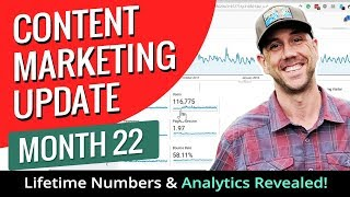 Content Marketing Update Month 22 - Lifetime Numbers & Analytics Revealed!