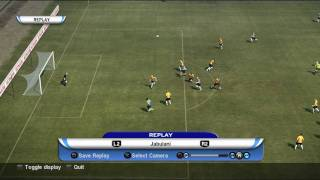 Jabulani ball - scissor kick  goal PES 2010 World cup Fifa South Africa 2010