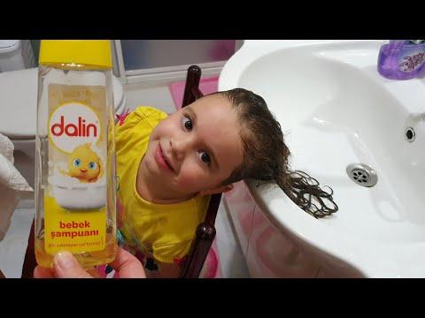 Dalin Bebek şampuanı Ile Elanın Saçlarını Kuaförde Gibi Yıkadık🐥🐤Eğlenceli çocuk Videosu