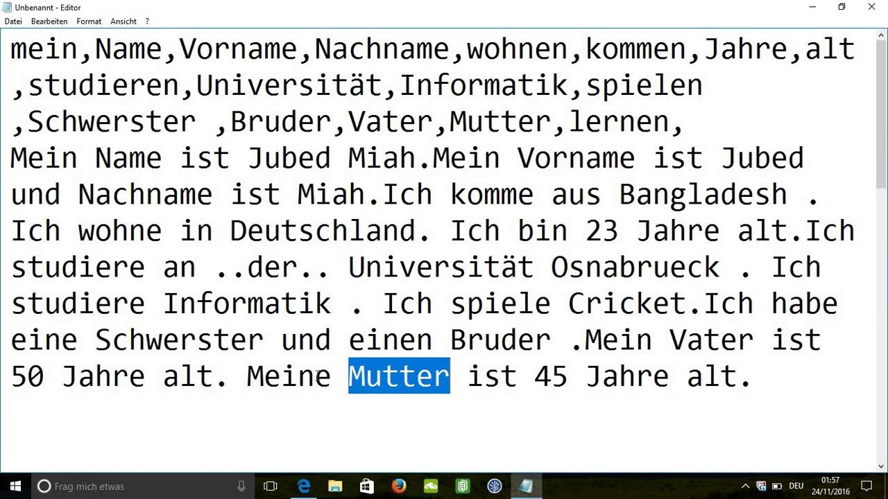 german learning in bangla tutorial 13- Text schreiben (টেক্সট ...