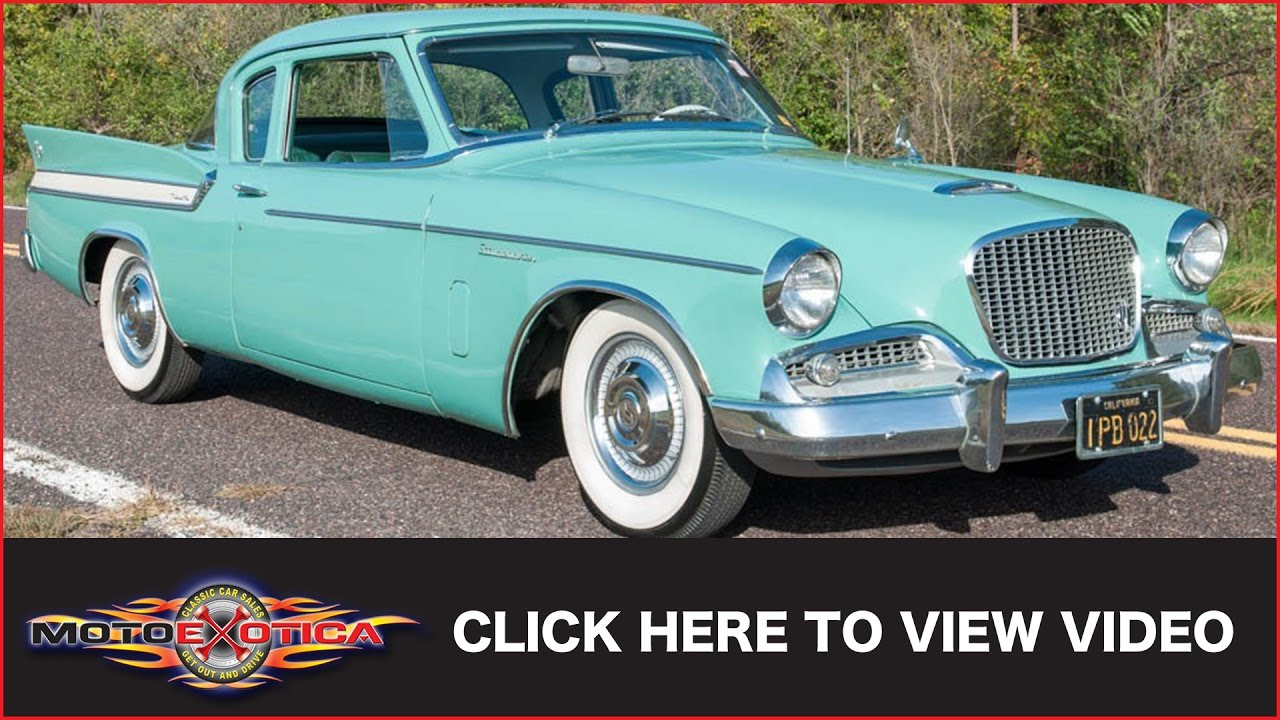 1961 Studebaker Hawk  SOLD    YouTube 1961 Studebaker Hawk  SOLD   MotoeXotica Classic Cars