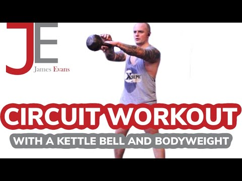 CIRCUIT Workout | CIRCUIT Training using a KETTLEBELL and BODYWEIGHT