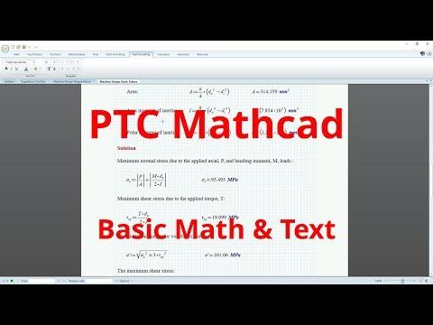 PTC Mathcad Tutorial - Basic Math and Text [Introduction]