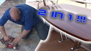 2 in 1! How to glue a table (No Mess) and More Texas Rebuild!