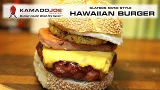 Kamado Joe - Hawaiian Burger 50/50 Style!