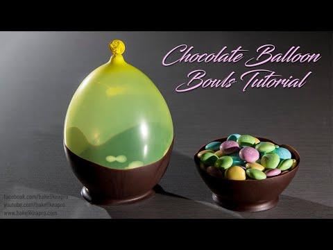Easy Chocolate Balloon Bowls Tutorial