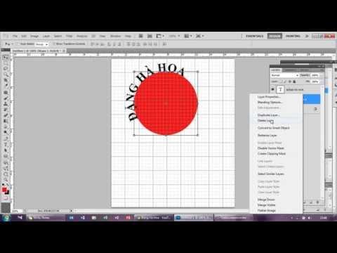 Viết chữ cong ngược trong Photoshop CS6   Text on a Circular Path