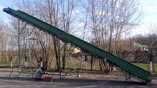 Ленточный конвейер 12 метров(, 2015-04-28T08:34:44.000Z)