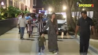 Taimur Ali Khan With Sister Inaaya Khemu And Other Kids Attend A Birthday Party