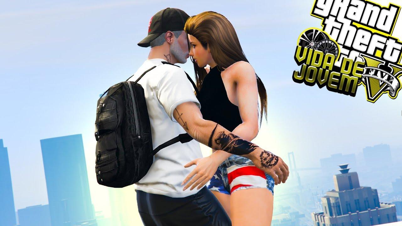 TJ GAMER - GTA V: VIDA DE JOVEM | ENCONTREI A DUDA, SERÁ QUE ROLOU QUÍMICA? EP.09