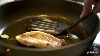 Mandarin Gourmet. Филе морского окуня на подушке из овощей.