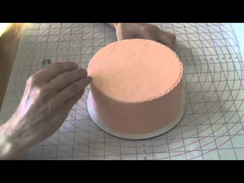 Easy Rolled Fondant Cake Decorating How To Use A Crimper
