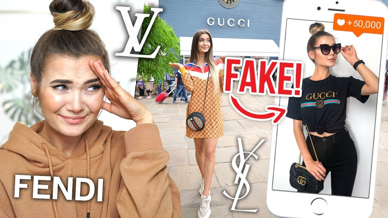 I WORE FAKE DESIGNER CLOTHING FOR A WEEK *EMBARRASSING*