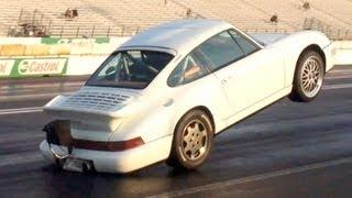 BIG Porsche Wheelie Bumper Stand!