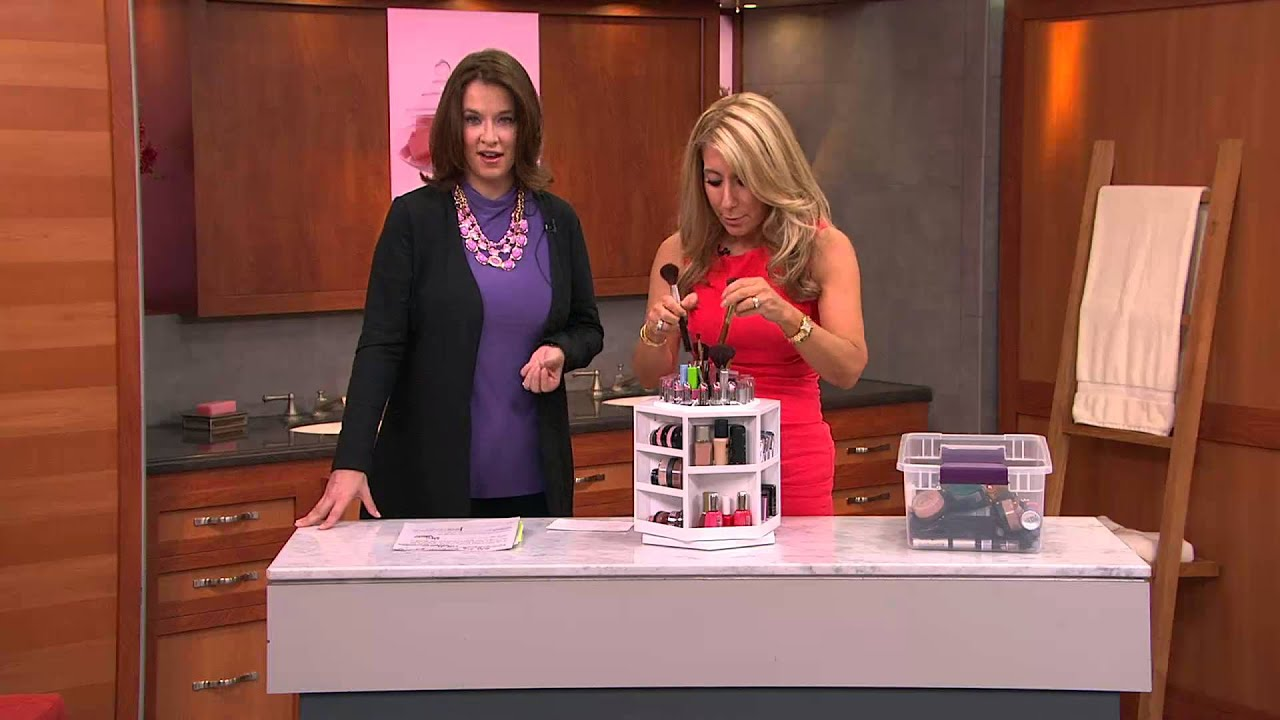 Tabletop Spinning Cosmetic Organizer By Lori Greiner With Jacque Gonzales    YouTube