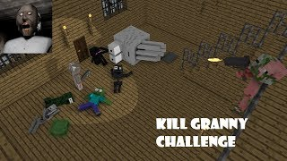 - Monster School GRANNY HORROR CHALLENGE Minecraft Animation