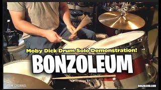 John Bonham MOBY DICK DRUM SOLO  *DEMONSTRATION  LED ZEPPELIN