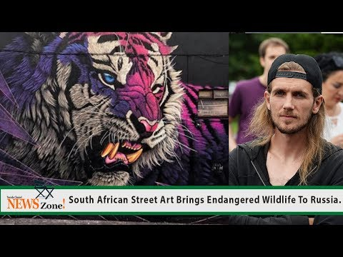 South African Street Art Brings Endangered Wildlife To Russia.
