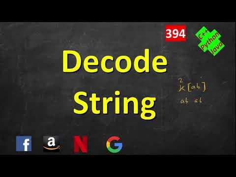 Decode String | LeetCode 394 | C++, Java, Python