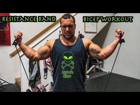 Intense 5 Minute Resistance Band Bicep Workout
