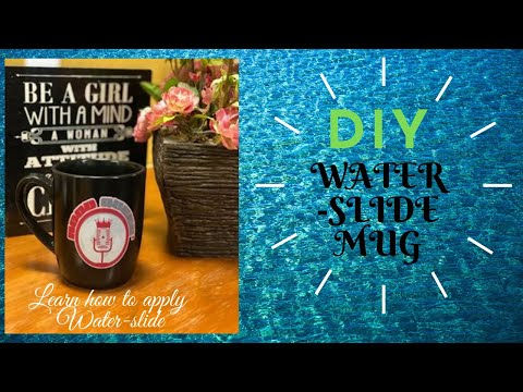 DIY WATER SLIDE COFFEE MUG/QUICK CRAFT/10 MIN CRAFT