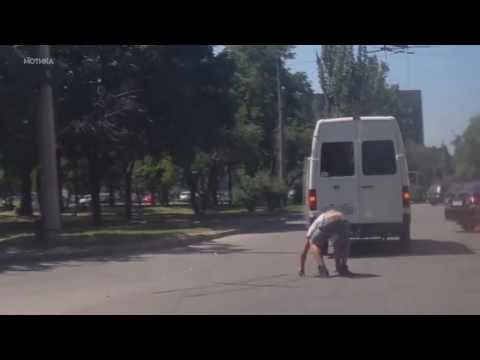 Russian Terminator tries to stop a bus