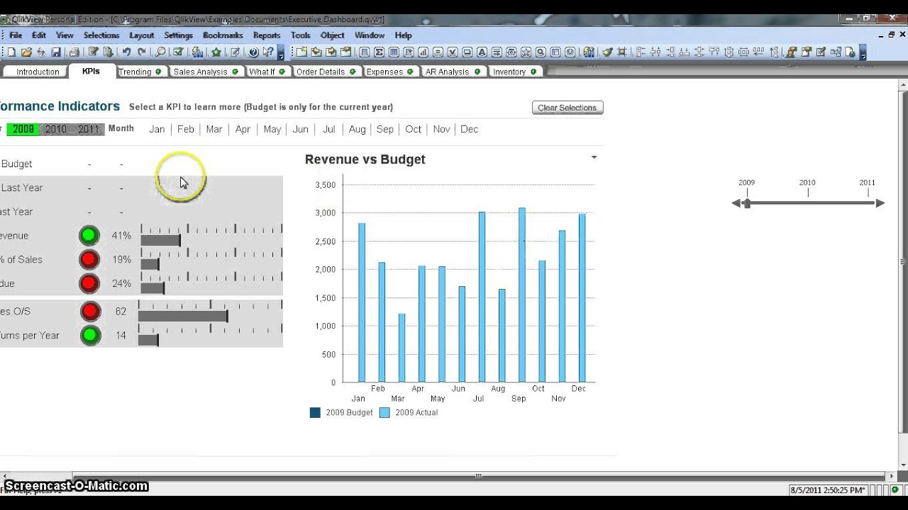 Qlikview Calendar Design : Qlikview slider object youtube