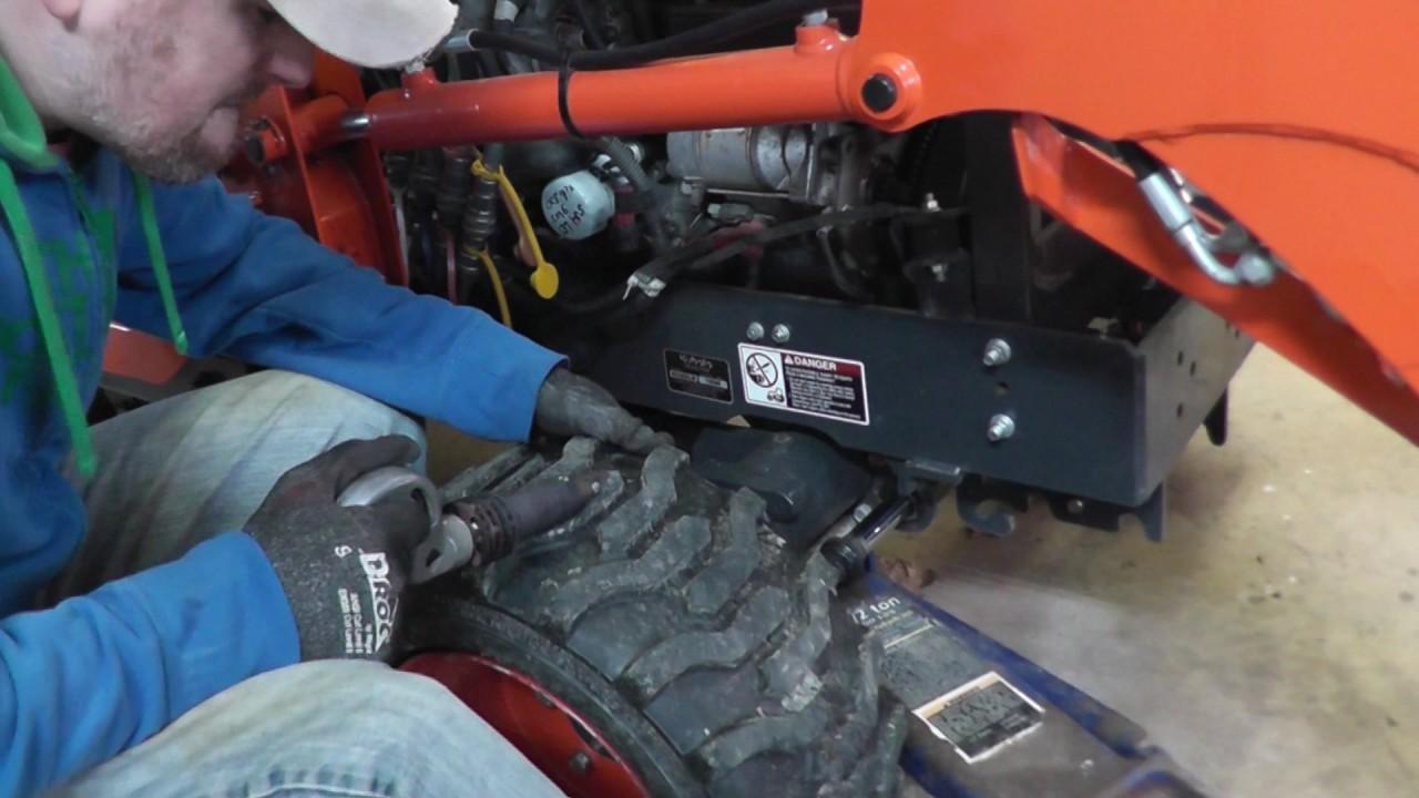 Kubota Tractor Tires R4 : Kubota bx d r tire grooving improve winter traction
