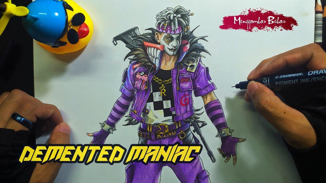 Gambar Bundle Demented maniac - Drawing Free Fire