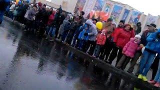Казаки на параде победы 2016г в Усть Илимске