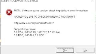 GTA 5 :  SCRIPT HOOK V CRITICAL ERROR (FIX) SIMPLY