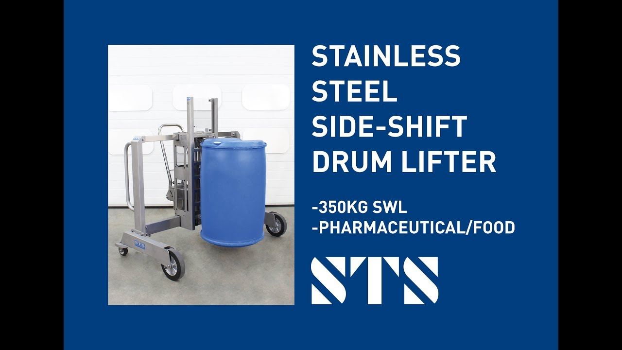 Stainless Steel Side-Shift Drum Lifter