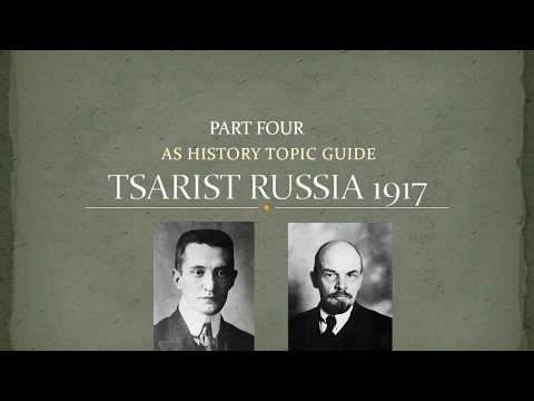 AS Tsarist Russia Revision Part 4 -  1917 The Provisional Government