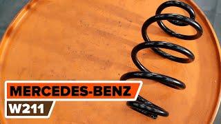 Ruitenwisserstangen achter links rechts installeren MERCEDES-BENZ E-CLASS: videohandleidingen
