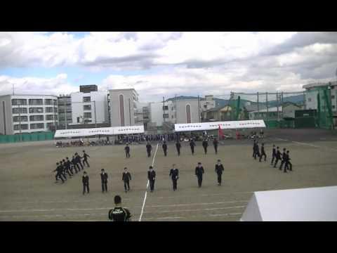 2011京都学園中学校体育祭 2年生男子「集団行動」