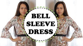 HOW TO SEW A BELL SLEEVE DRESS
