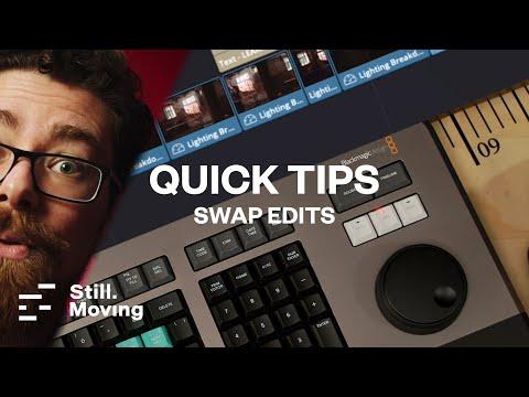 QUICK TIPS - Swap Edits - Davinci Resolve