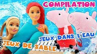 Compilation 2019 en français pour enfants : jeux dans le sable – poupée Barbie – Peppa Pig