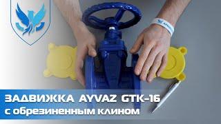 ⛲️???? Задвижка с обрезиненным клином Ayvaz GTK-16 Ду 50 ???? видео обзор задвижка клиновая чугунная