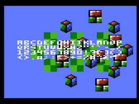 Atari game designer new text and tile routine